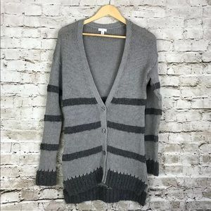 Nordstrom bp striped button up cardigan